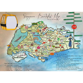Singapore Bucketlist Map (postcard)