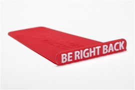 Phraser Bookmark - Be Right Back (Red)