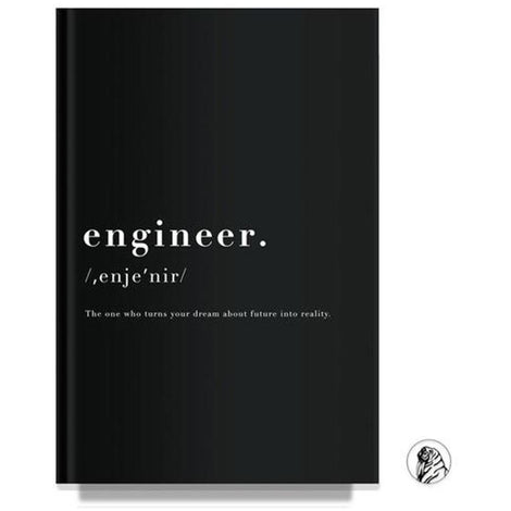 Engineer Black Notebook