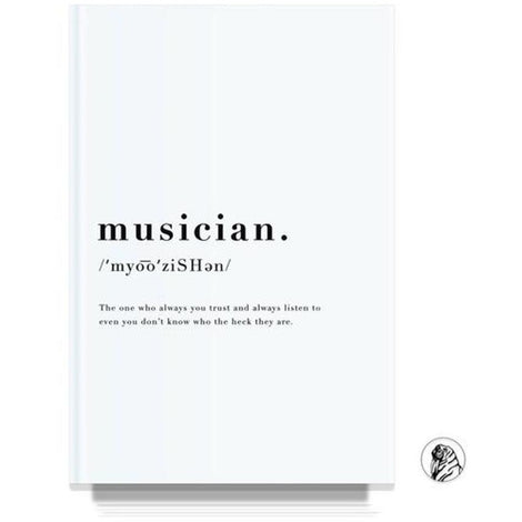 Musician White Notebook