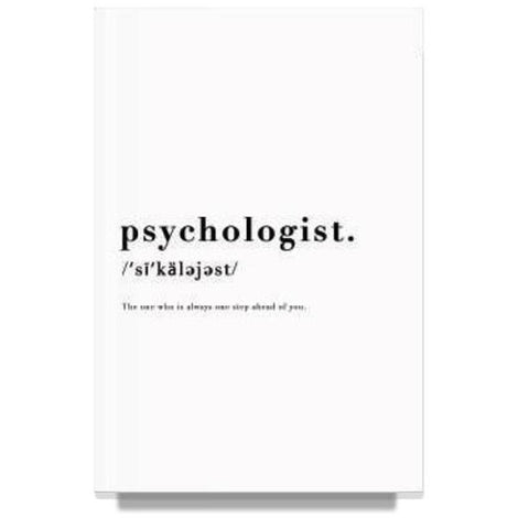 Psychologist Black Notebook