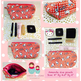 Hello Kitty Checks Red Amanda Pouch