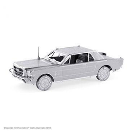 MetalEarth Silver Series - Ford 1965 Mustang Coupe