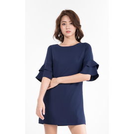 Kassida Dress in Navy Blue