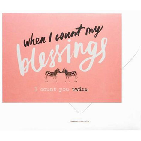 'When I Count My Blessings' Card