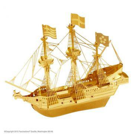 MetalEarth - Golden Hind Ship (Gold)