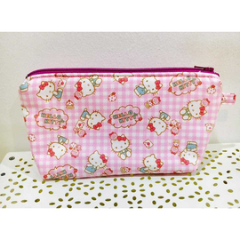 Hello Kitty Checks Pink Amanda Pouch