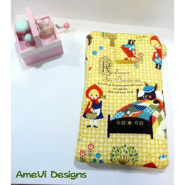 Yellow Red Riding Hood Vertical Velcro Handphone Case (Iphone/S2/S3)