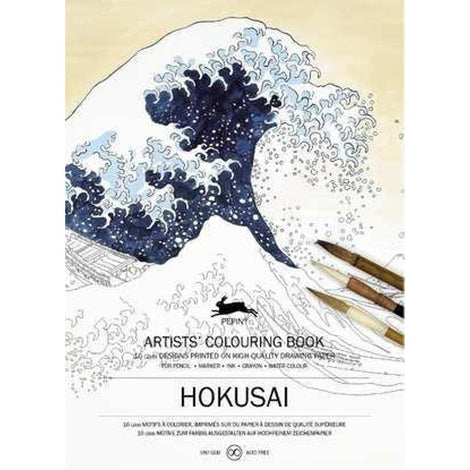 Hokusai Colouring Book