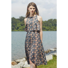 Pacey Printed Midi Dress
