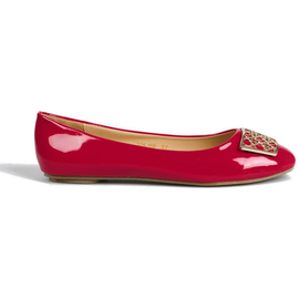 Flats with Metal Detail in Red