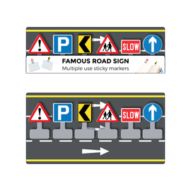 Totally Iconic Road Sign Sticky Markers