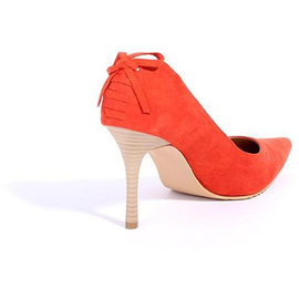 Suede-Effect Pump