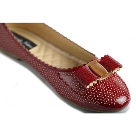 Flats w/ Bow and Embossed Detail