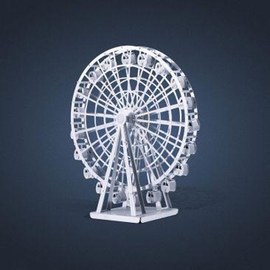 MetalEarth Silver Series - Ferris Wheel