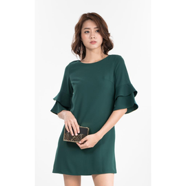 Kassida Dress in Forest Green