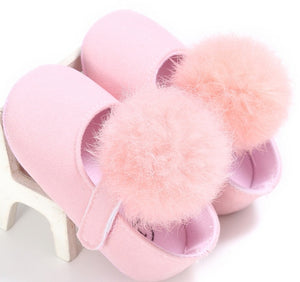 0-18M Toddler Baby Girl Soft Plush Princess Shoes cute pom shoes Infant Prewalker New Born Baby Shoes for girls - ShopeeShipee