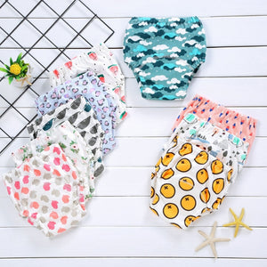 1 cotton baby reusable diaper washable cloth diaper baby child baby cotton training pants underwear - ShopeeShipee