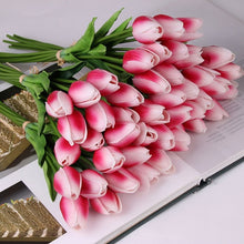 10 Pcs beauty Real touch flowers latex Tulips flower Artificial Bouquet Fake flower bridal bouquet decorate flowers for wedding - ShopeeShipee