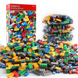 1000 Pieces DIY Building Blocks Bulk Sets City Creative LegoINGs Classic Technic Bricks Creator Toys for Children Christmas Gift - ShopeeShipee
