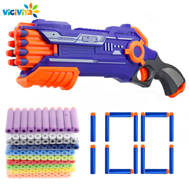 100PCS For Nerf Bullets Head 7.2cm Refill Darts Toy Gun Bullets for Nerf Series Blasters Xmas Birthday Kids Children Gift