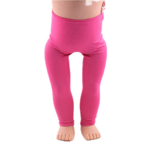 12  New Styles Of Solid Color Leggings  For 18 Inch American Doll 43cm Baby Doll Clothes, Generation, Gift This is a DropShip - ShopeeShipee