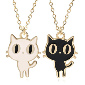 12pcs/lot Cartoon Stylish Luna Cat Alloy Necklace Hanging Accessories Birthday Festival Party Take home Favors Gifts