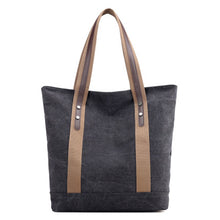 New women's canvas tote bag shoulder bag large capacity leisure travel anti-theft fashion wild Mommy shopping bag
