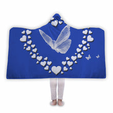 BUTTERFLY WITH HEARTS - Customized Hooded Blankets