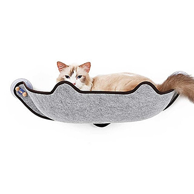 14Pcs/Set  Cat Hammock Bed Mount Window Pod Lounger Suction Cups Warm Bed For Pet Cat Rest House Sun Wall Bed Soft Ferret Cage