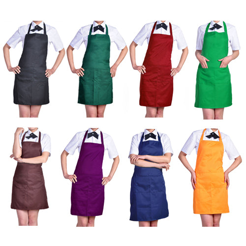 Plain Apron with Front Pocket for Chefs Butchers Kitchen Cooking Craft Baking - ShopeeShipee