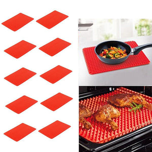 Kitchen Pyramid Pan Non-Stick Silicone Cooking Mat Oven Baking Tray Sheet - ShopeeShipee