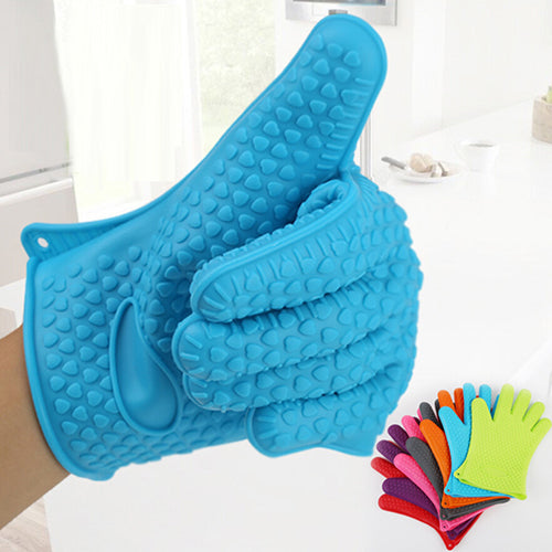 Silicone Kitchen Heat Resistant Glove Pot Holder Baking BBQ Cooking Oven Mitt - ShopeeShipee