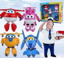 15cm ABS Super Wings Deformation Airplane Transformation Robot Action Figures toys Super Wing Jimbo for birthday gift