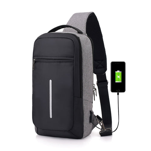 Anti-theft USB charging chest bag with you - ShopeeShipee