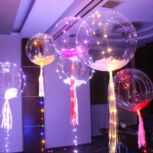 18 inch Clear Latex Balloon With Led Strip 3M Copper Wire Luminous Led Balloons For wedding Decorations birthday party Supplies