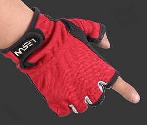 3 colors fishing gloves