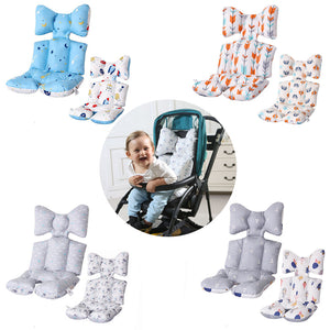 2 Sides Baby Printed Stroller Pad Seat Warm Cushion Pad Mattresses Pillow Cover Child Carriage Cart Pad Trolley Chair Cushion - ShopeeShipee