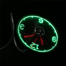 2 styles Durable Adjustable USB Gadget Mini Flexible LED Light USB Fan Time Clock Desktop Clock Cool Gadget Time Display gift