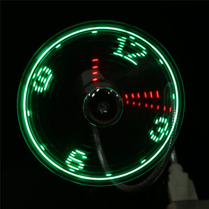 2 styles Durable Adjustable USB Gadget Mini Flexible LED Light USB Fan Time Clock Desktop Clock Cool Gadget Time Display gift - ShopeeShipee