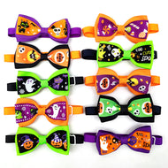 20/50 Pcs Pet Accessories Halloween Design Puppy Dog Cat Bow Tie Adjustable Dog Collar For Small Medium Dog
