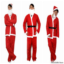 2018 Clearance Non-woven Santa Claus five-piece suit Christmas show costume - ShopeeShipee