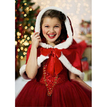 2018 New Winter Girl Dress Children Red Hoodie Princess Dresses Kids Christmas Party Costume for Girl With Cap Dresses for Girls