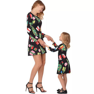2018 Christmas Infants Children Kids Girls Long Sleeve Dot Tree Print Dress Clothes Girls clothing Baby Girls Dresses