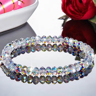 1PC Crystal Beaded Bracelets for Woman Sweet Temperament Handwork Bracelets & Bangles Charms Jewelry
