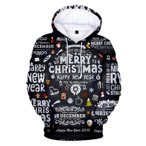 3D Full Printed Christmas Hoodies Men/Women Trends Personality Skull Sweatshirts Young Hip Hop Casual Christmas Hoodies - ShopeeShipee