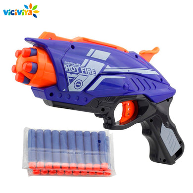 NEW Plastic Toy Gun For NERF Elite Blaster With 20pcs Soft EVA Sucker Bullet Kids Gun Toy For Boys