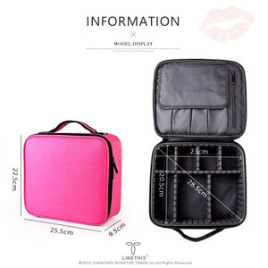2019 Professional Toiletry Bag Cosmetic Bag Organizer Women Travel Make Up Cases Big Capacity Cosmetics Suitcases For Makeup X32