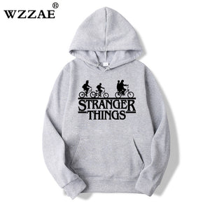 2019 Trendy Faces Stranger Things Hooded Mens Hoodies and Sweatshirts Oversized for Autumn with Hip Hop Winter Hoodies Men Brand - ShopeeShipee