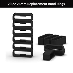 20mm 22mm 26mm Soft Silicone Rings for Garmin Fenix 5 5X 5S Silicone Replacement Band - ShopeeShipee